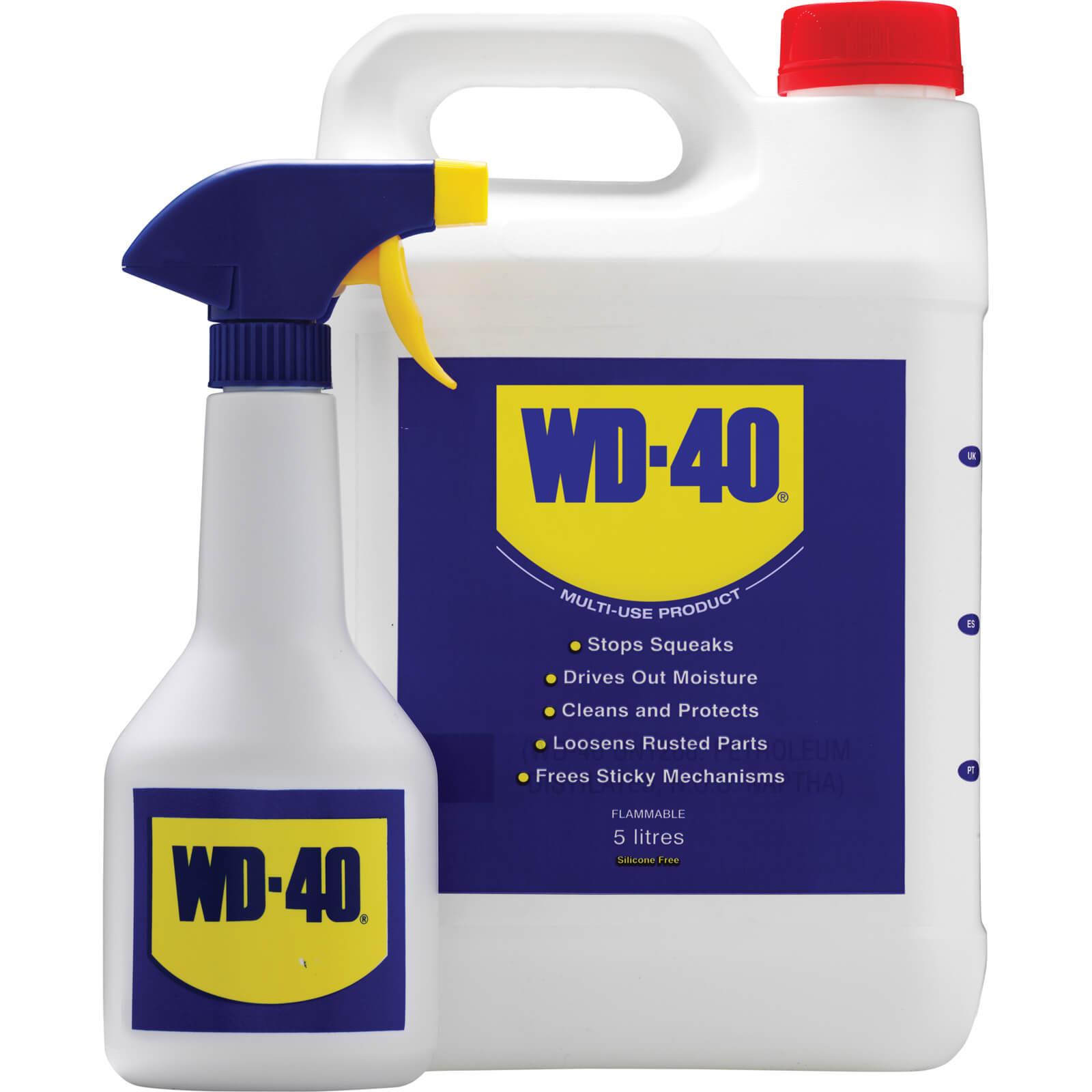 Image of WD40 Multi Purpose Liquid & Spray Bottle 5l