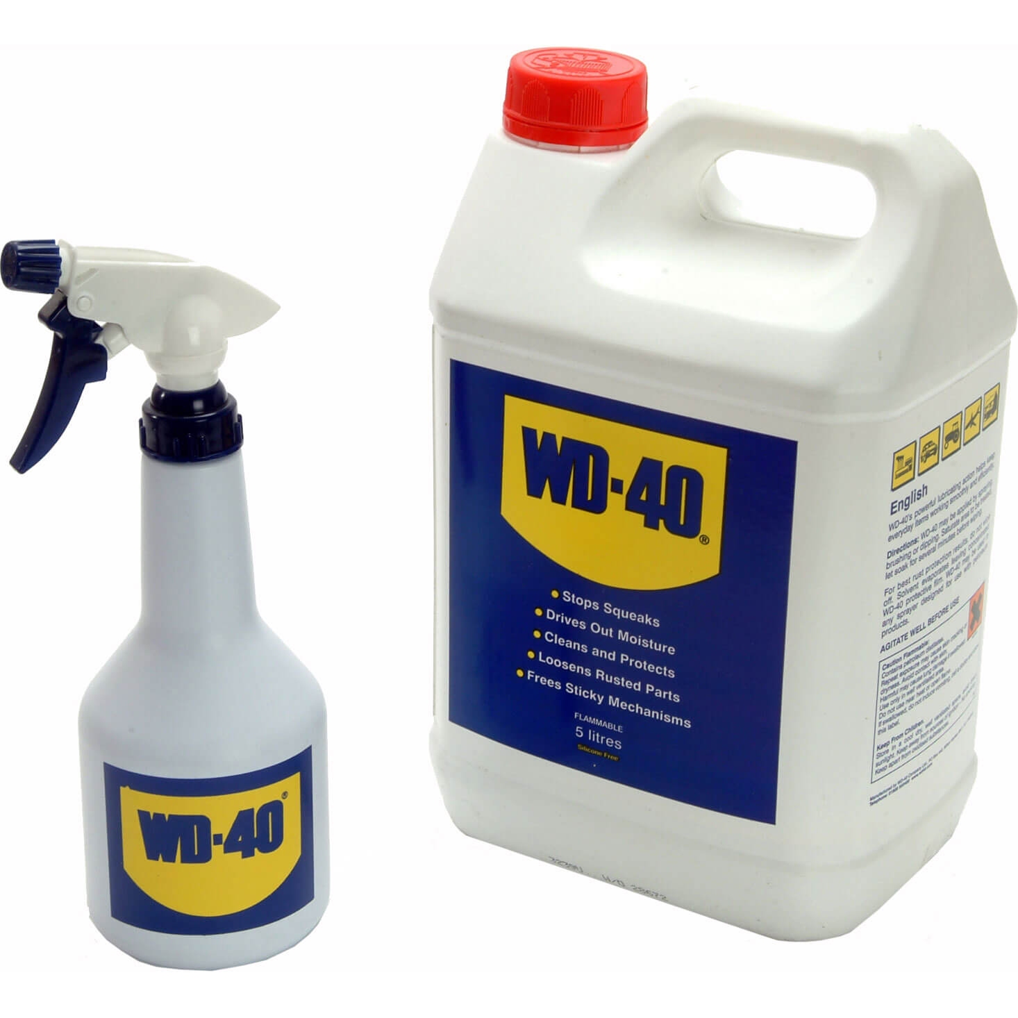 wd40 multi purpose lubricant 5l bottle with refillable. Black Bedroom Furniture Sets. Home Design Ideas