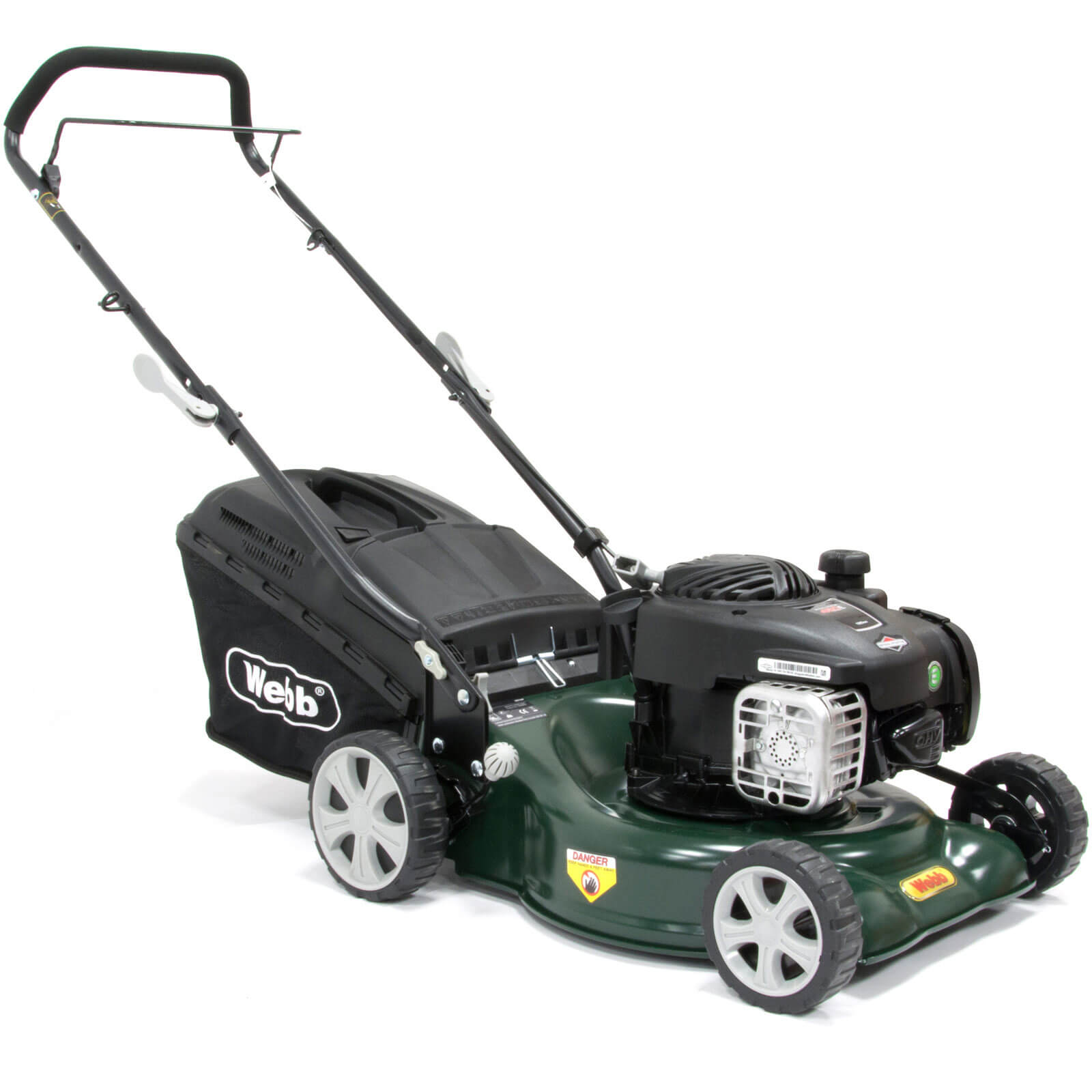 Image of Webb WER16HP Push Petrol Rotary Lawnmower 420mms