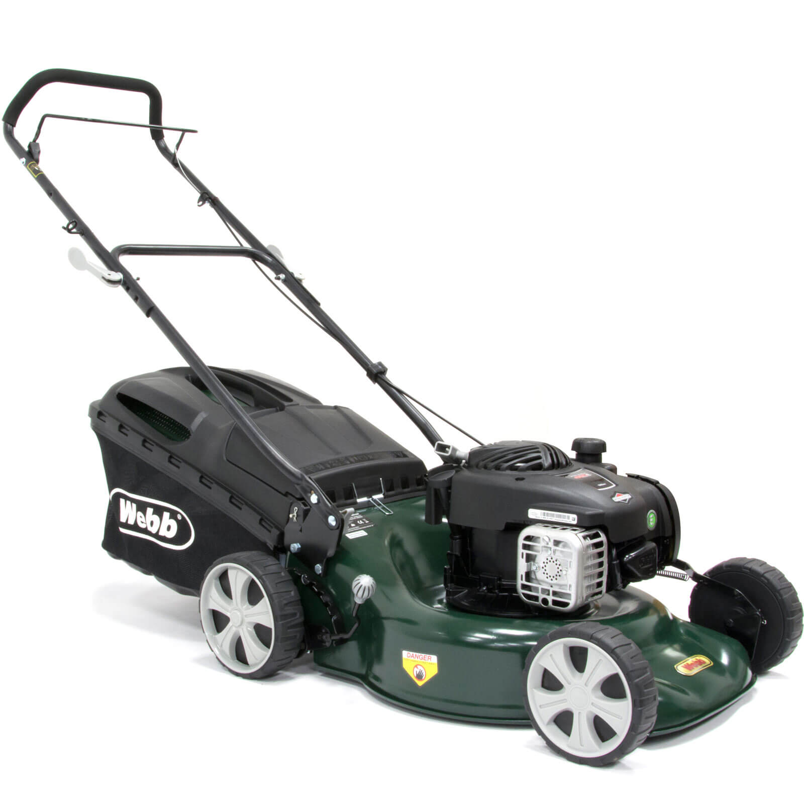 Image of Webb WER18SP Self Propelled Petrol 3 in 1 Rotary Lawnmower 460mm