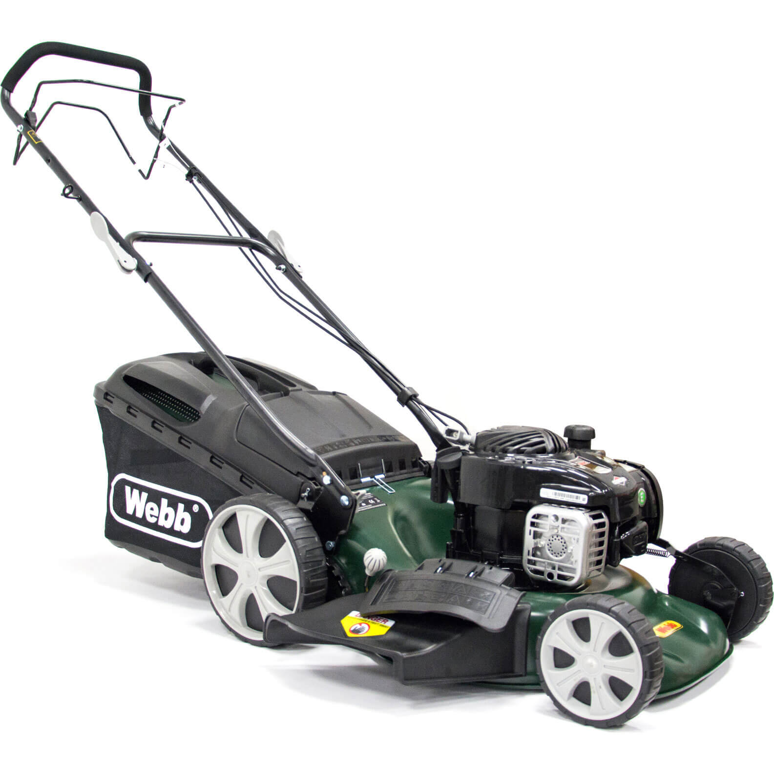 Image of Webb WER18HW Self Propelled Petrol 3 in 1 Rotary Lawnmower 460mm