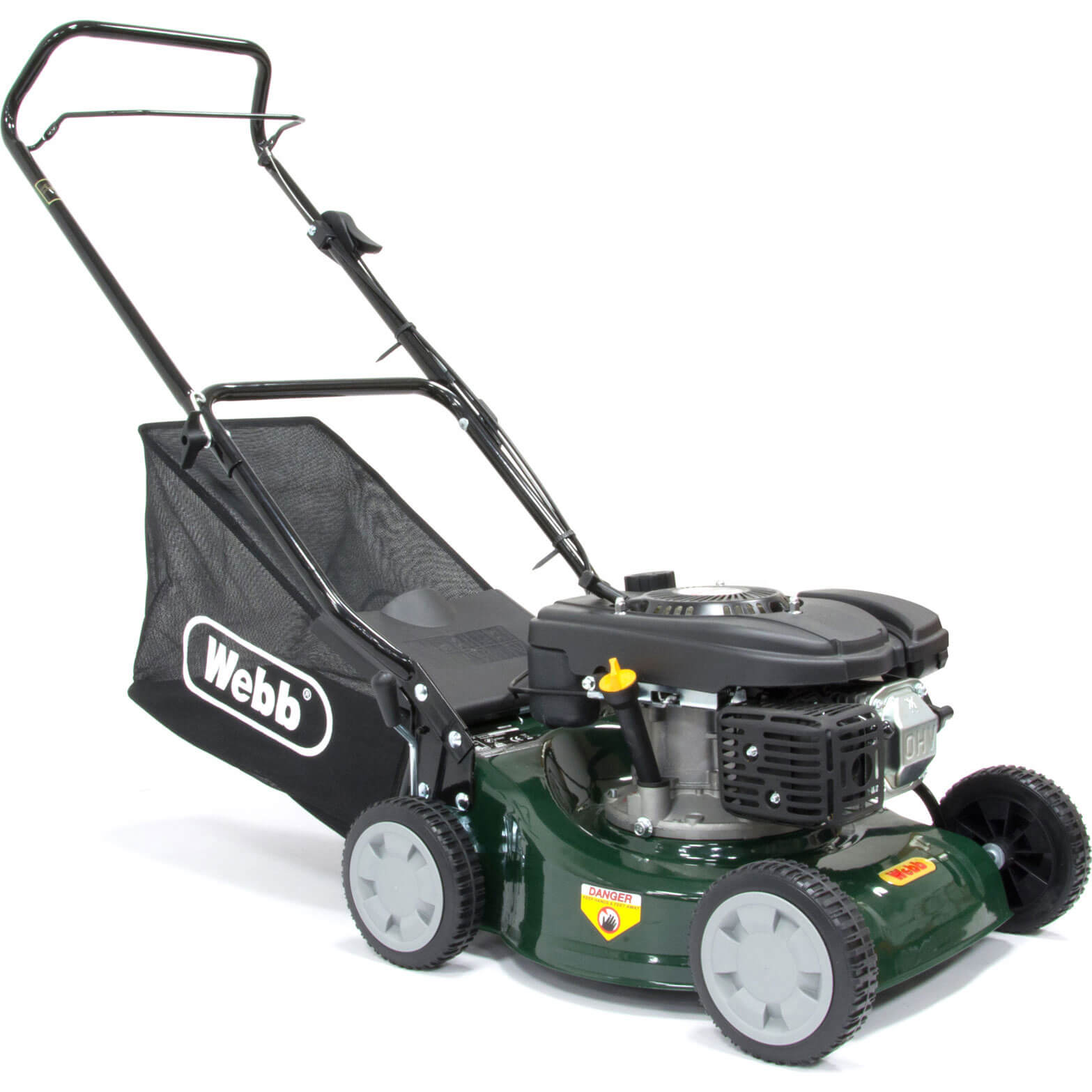 Image of Webb WER41HP Push Petrol Rotary Lawnmower 400mm
