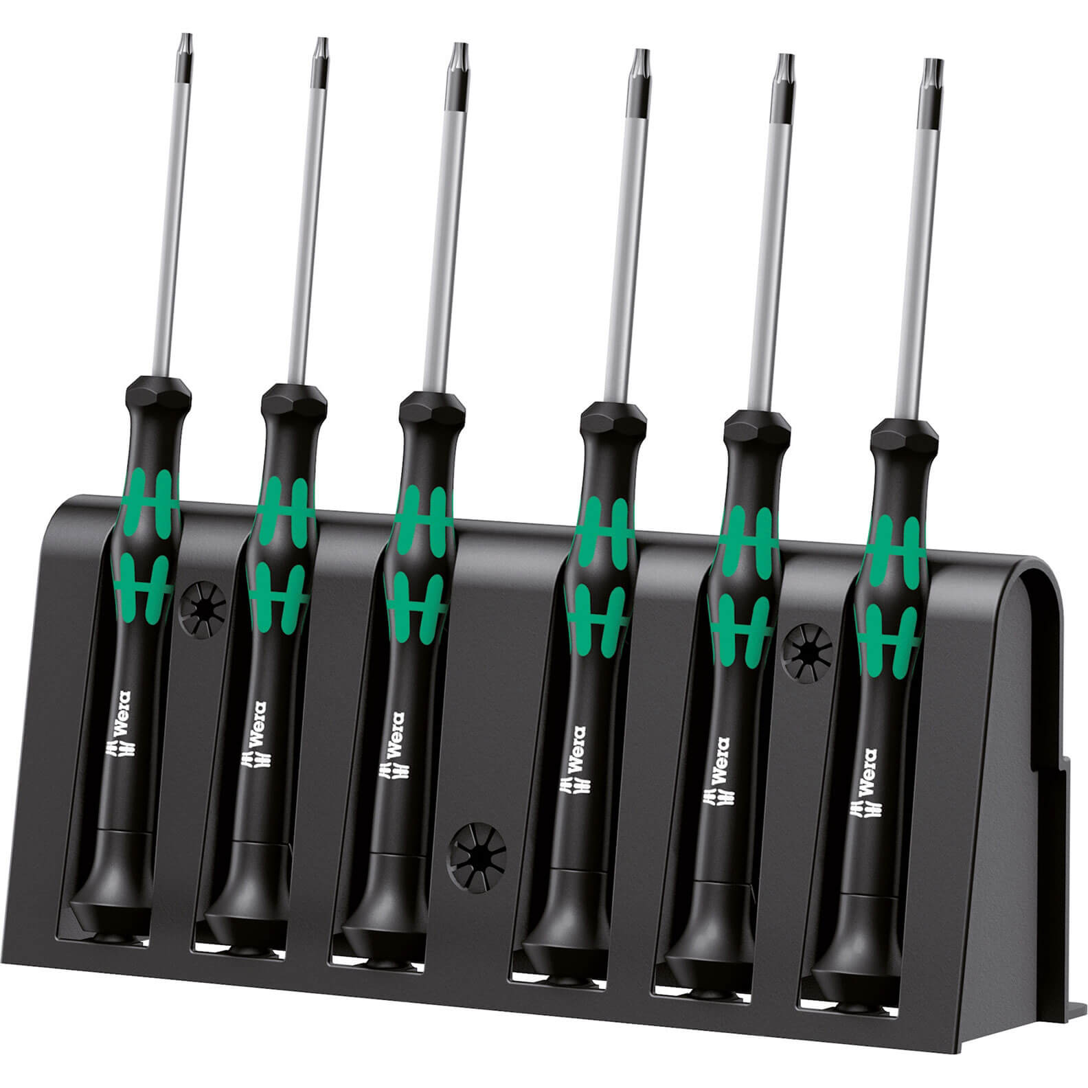 Image of Wera 6 Piece Kraftform Micro 6 Piece Security Torx Screwdriver Set
