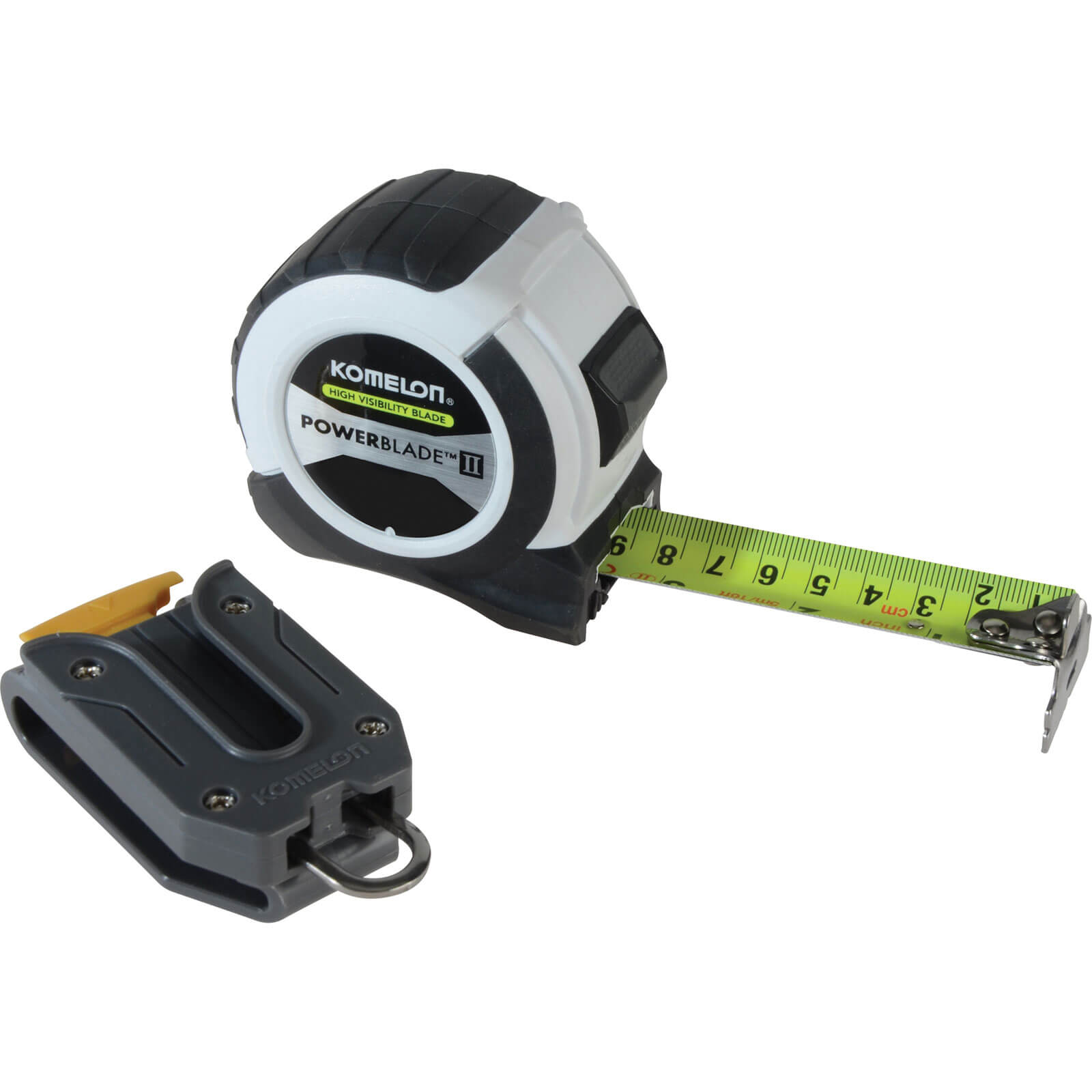 Image of Komelon Powerblade II Tape Measure Imperial & Metric 26ft / 8m 27mm