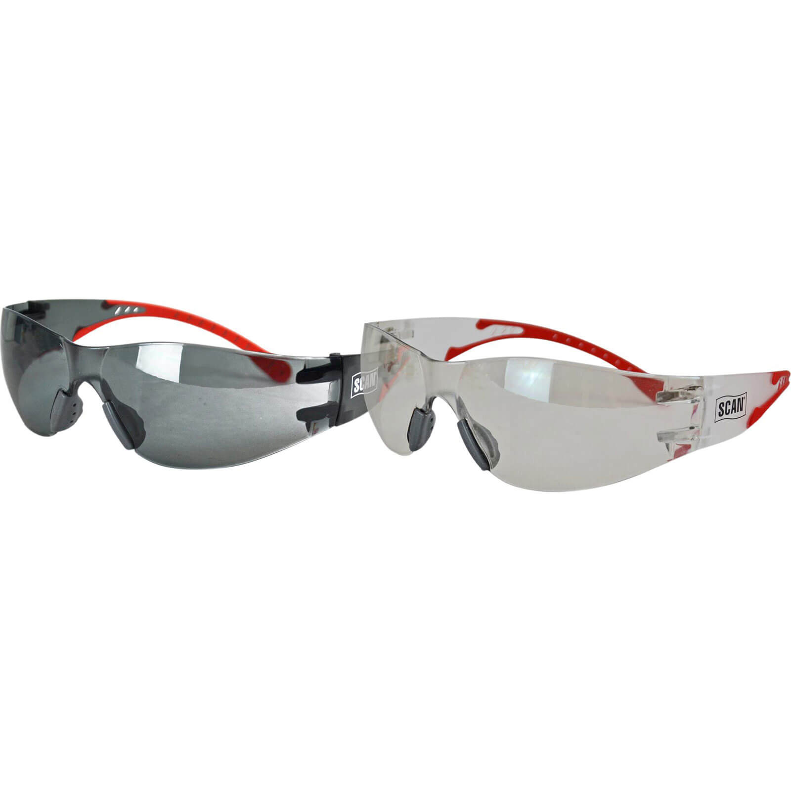 Image of Scan Flexi-Spec Safety Glasses Twin Pack