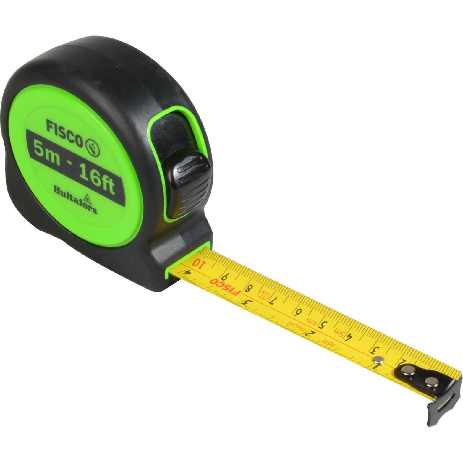 Image of Hultafors A1-Plus Hi-Vis Tape Measure Imperial & Metric 16ft / 5m 19mm