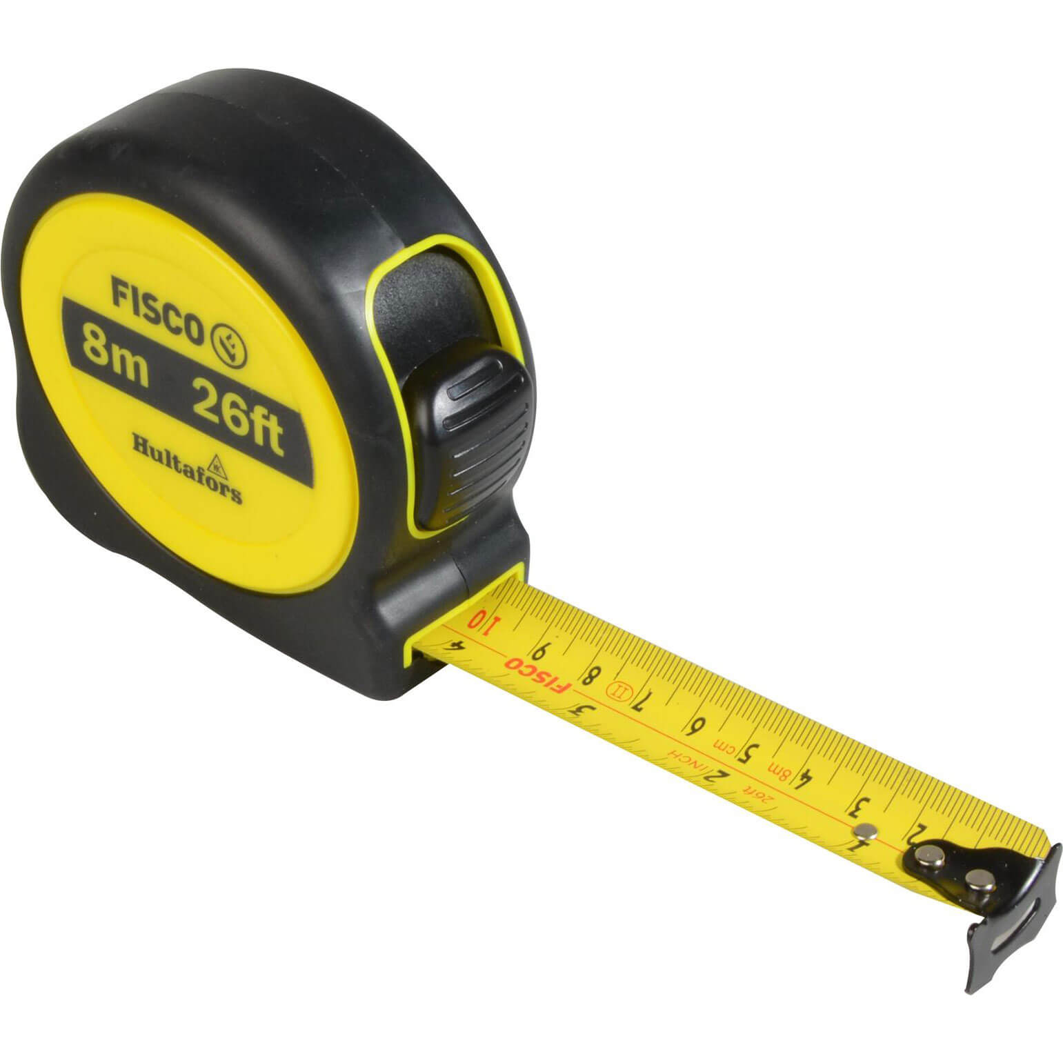 Image of Hultafors A1-Plus Hi-Vis Tape Measure Imperial & Metric 26ft / 8m 25mm