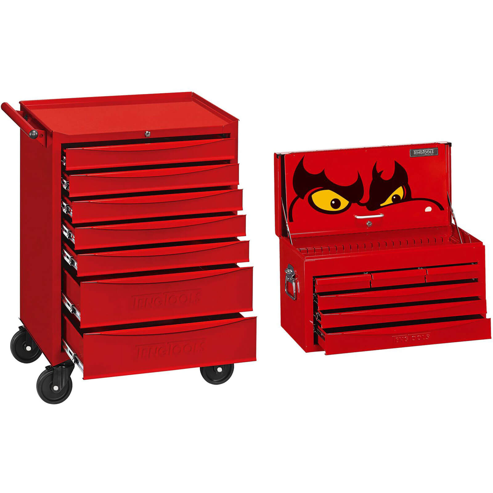Image of Teng 704 Piece Top Box And Rolling Cabinet Tool Kit