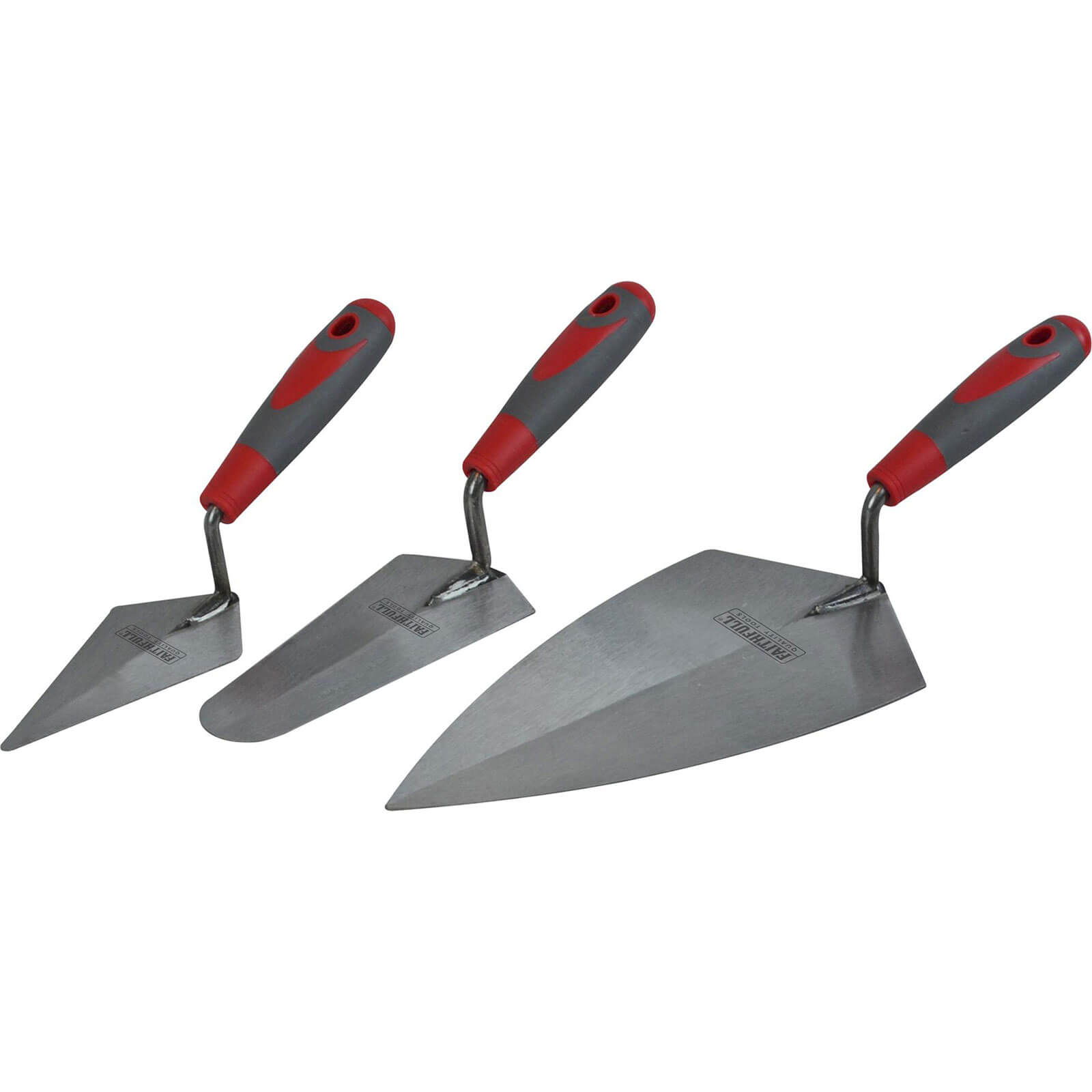 Image of Faithfull 3 Piece Soft Grip Trowel Set