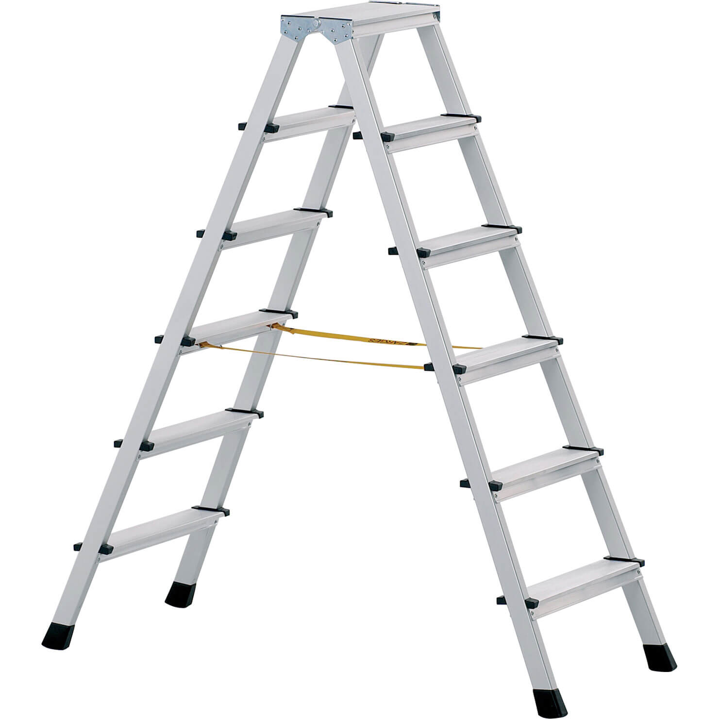 Image of Zarges Anodised Double Sided Step Ladder 10