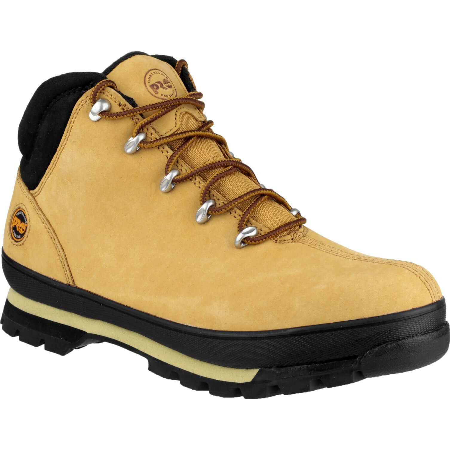 Image of Timberland Pro Mens Split Rock Safety Boots Wheat Size 12