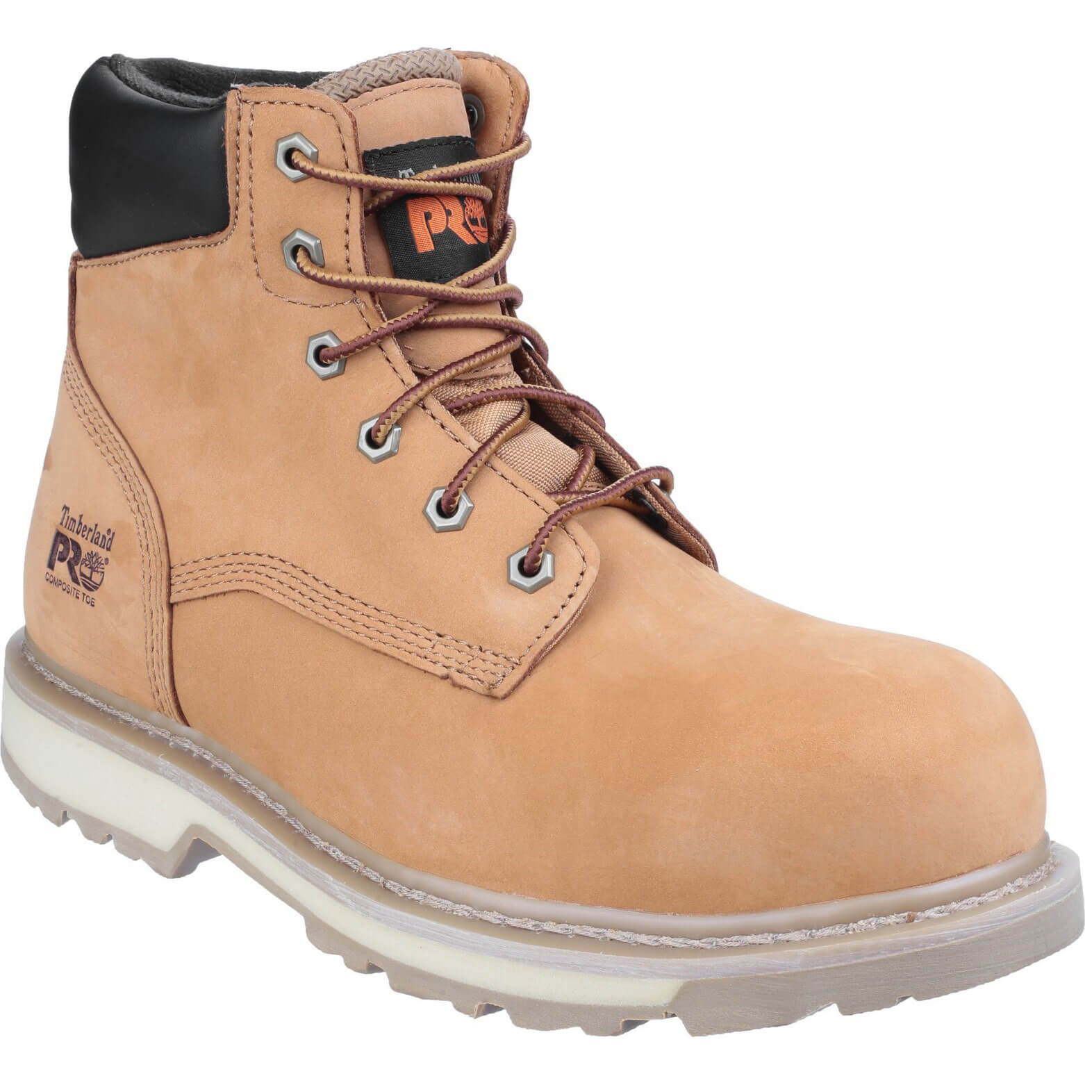 Image of Timberland Pro Mens Traditional Safety Boots Wheat Size 6.5