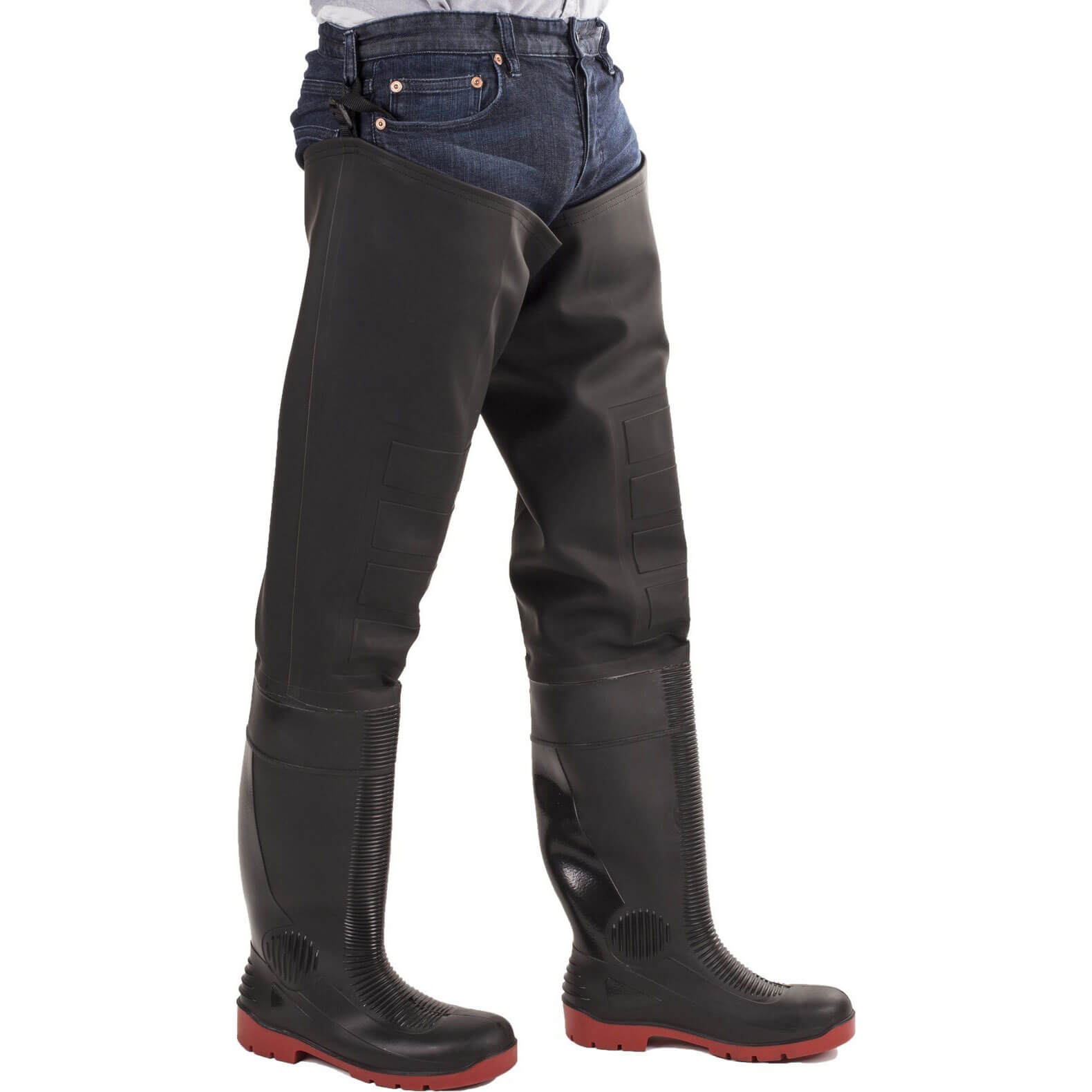 CHEAP Amblers Safety Rhone Thigh Safety Wader Black / Red Size 11 – Men's Footwear