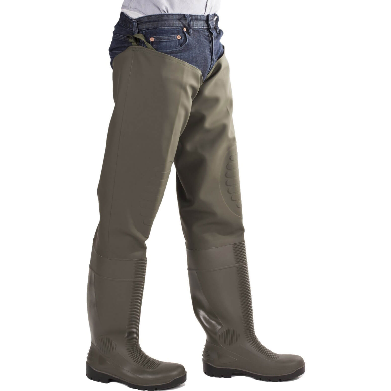 CHEAP Amblers Safety Forth Thigh Safety Wader Green Size 6.5 – Men's Footwear