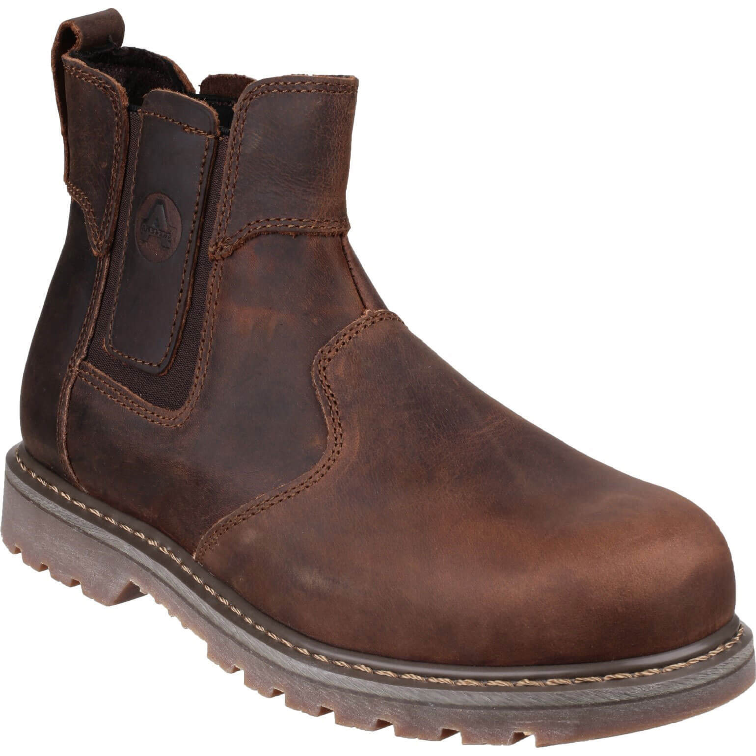CHEAP Amblers Safety Pull On Dealer Safety Boots Brown Size 6.5 – Men's Footwear
