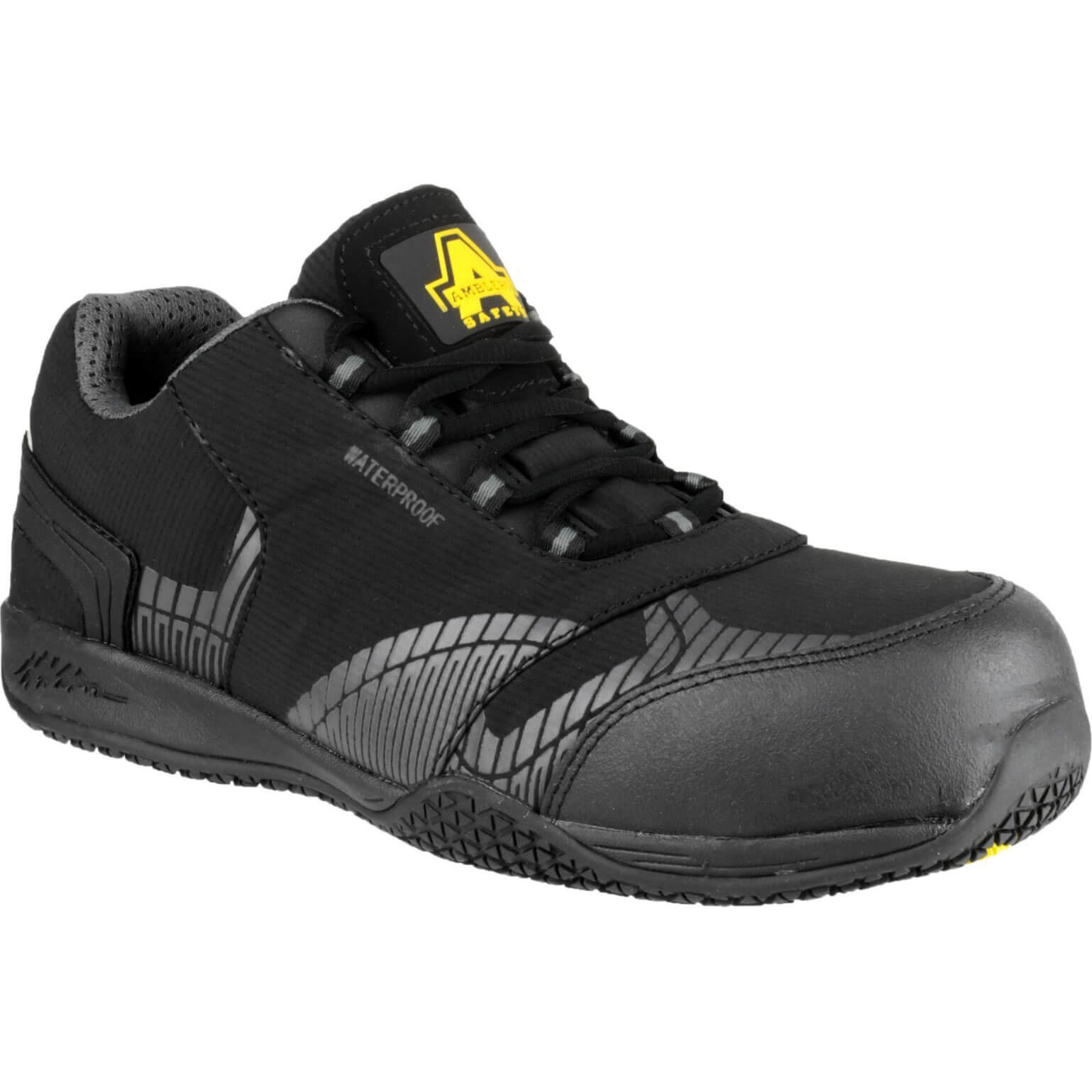 CHEAP Amblers Safety FS29C Waterproof Metal Free Non Leather Safety Trainer Black Size 10 – Men's Footwear