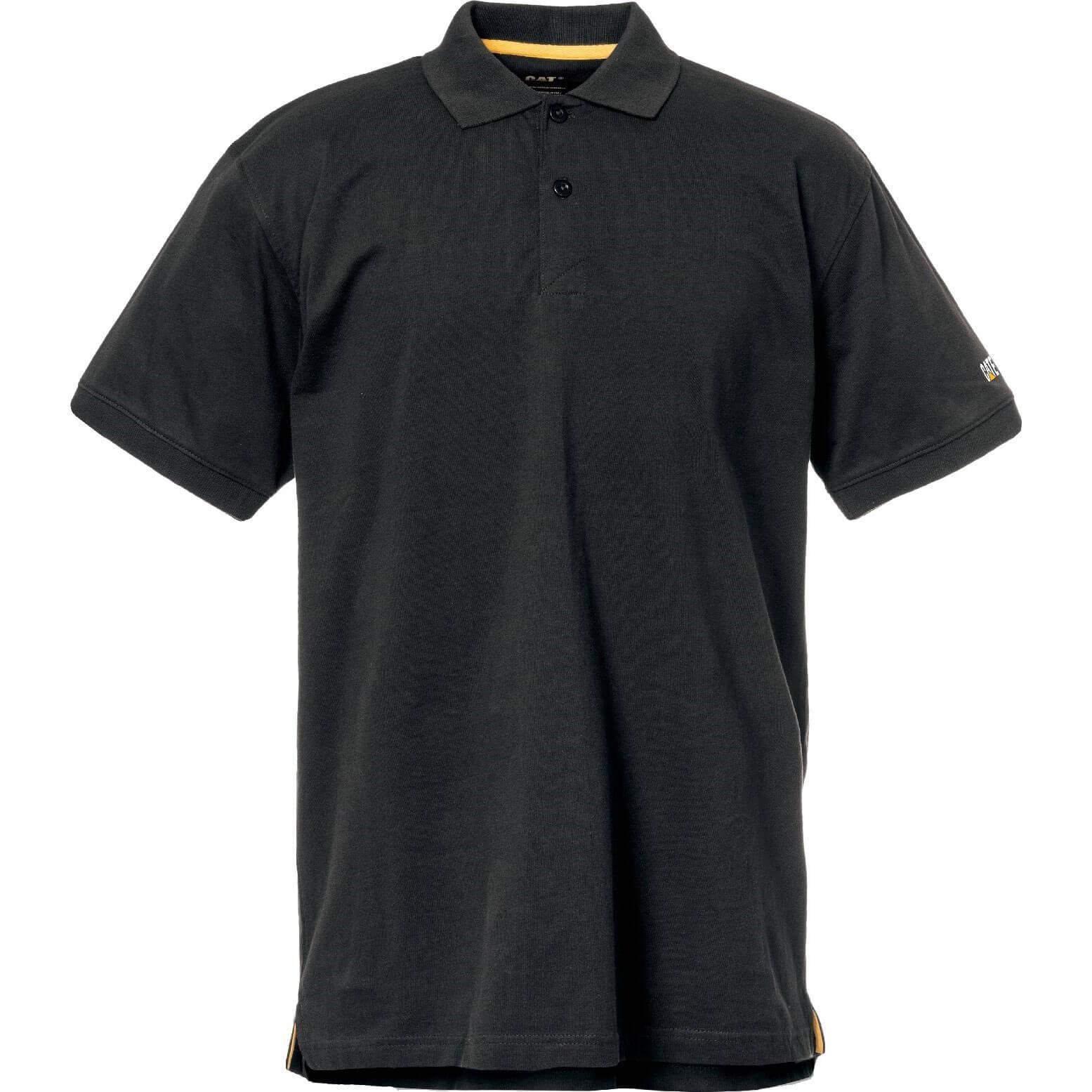 CHEAP Caterpillar Mens Classic Polo Shirt Black S – Men's Clothing
