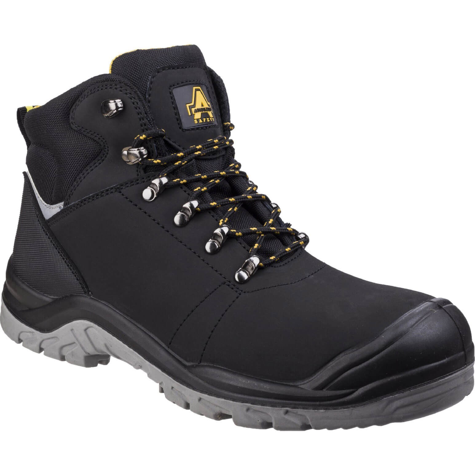 CHEAP Amblers Mens Safety As252 Lightweight Water Resistant Leather Safety Boots Black Size 5 – Men's Footwear