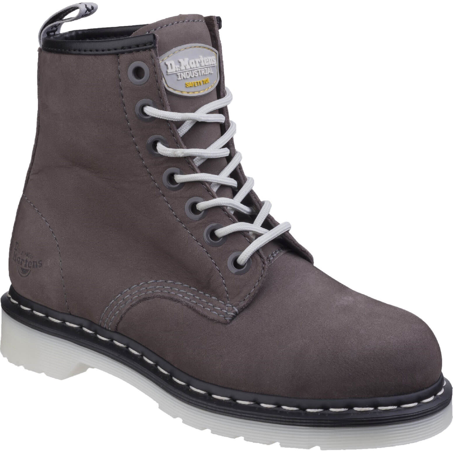 CHEAP Dr Martens Mens Maple Classic Safety Work Boots Grey Size 6 – Men's Footwear