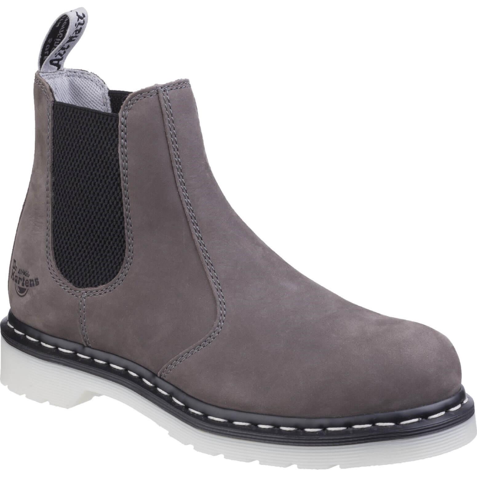 CHEAP Dr Martens Mens Arbar St Chelsea Work Boots Grey Size 4 – Men's Footwear