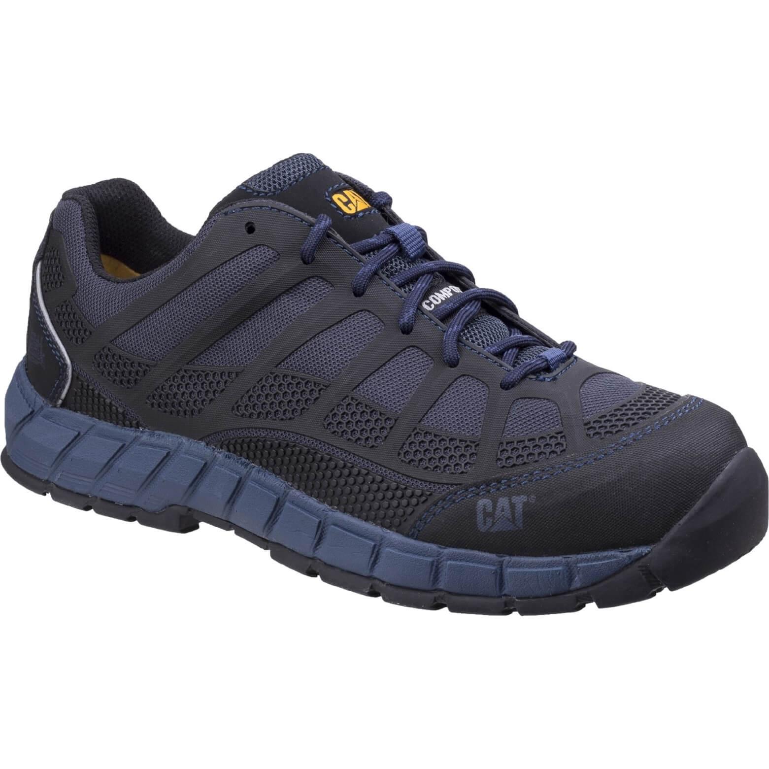 CHEAP Caterpillar Streamline Leather Safety Shoe Blue Size 10 – Men's Footwear