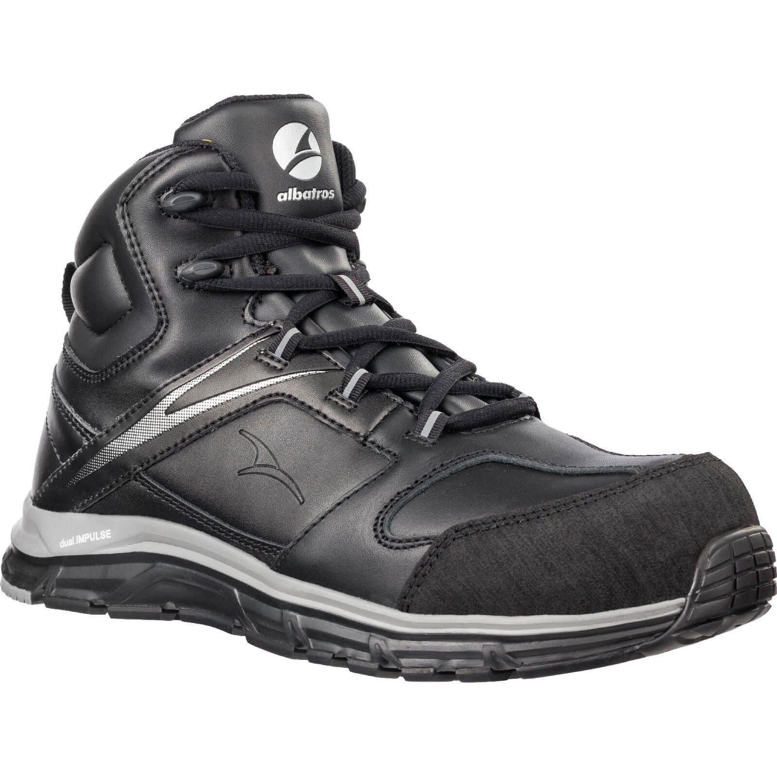 Image of Albatros Mens Vigor Impulse Mid Safety Boots Black Size 12