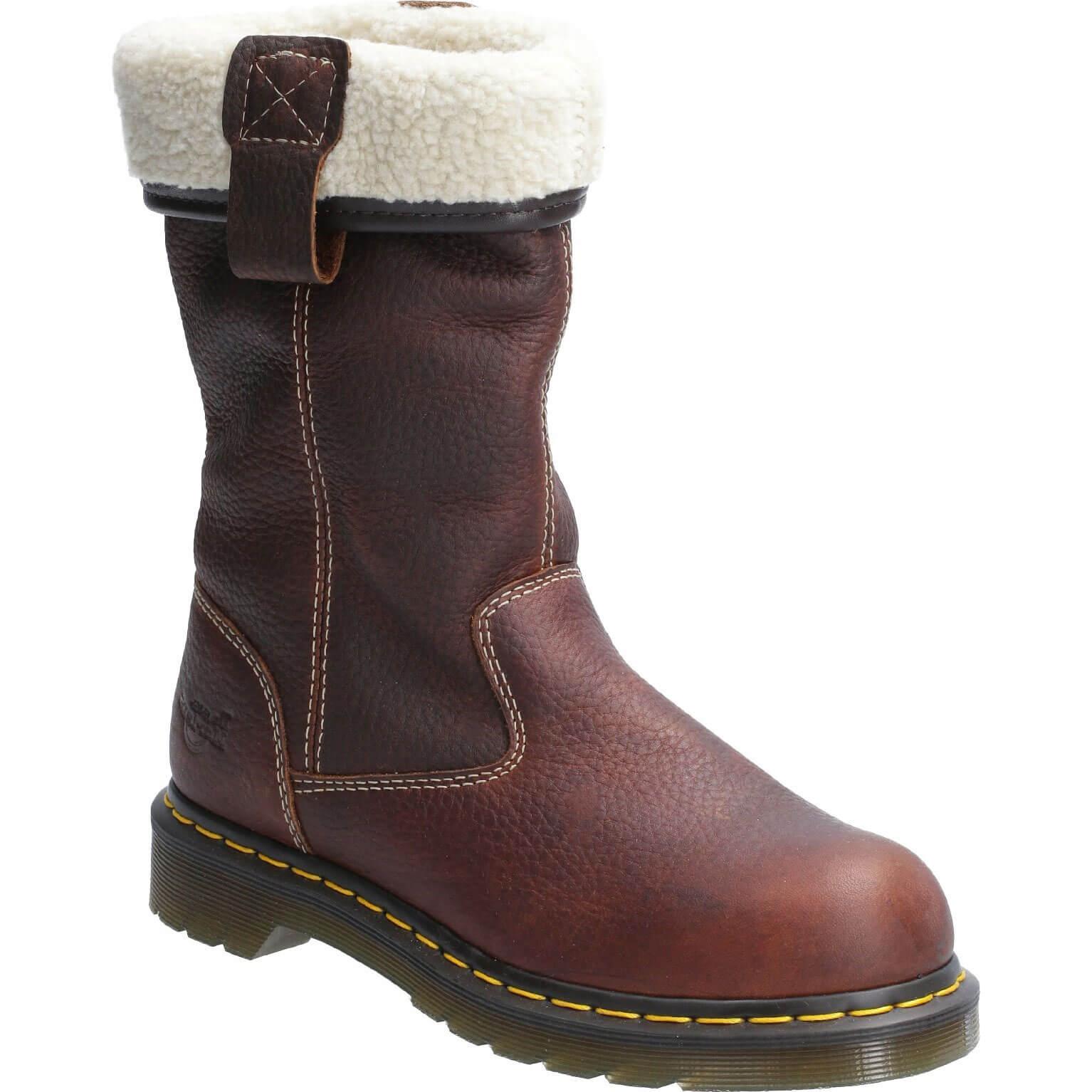 Image of Dr Martens Belsay Slip On Safety Boot Teak Size 3