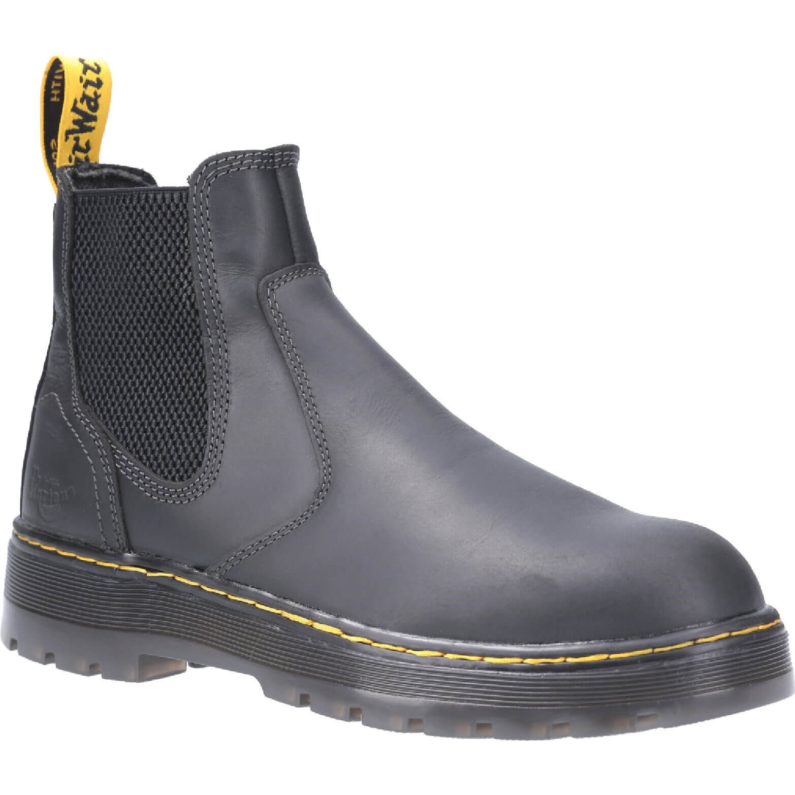 Image of Dr Martens Eaves Elasticated Safety Boot Black Size 10