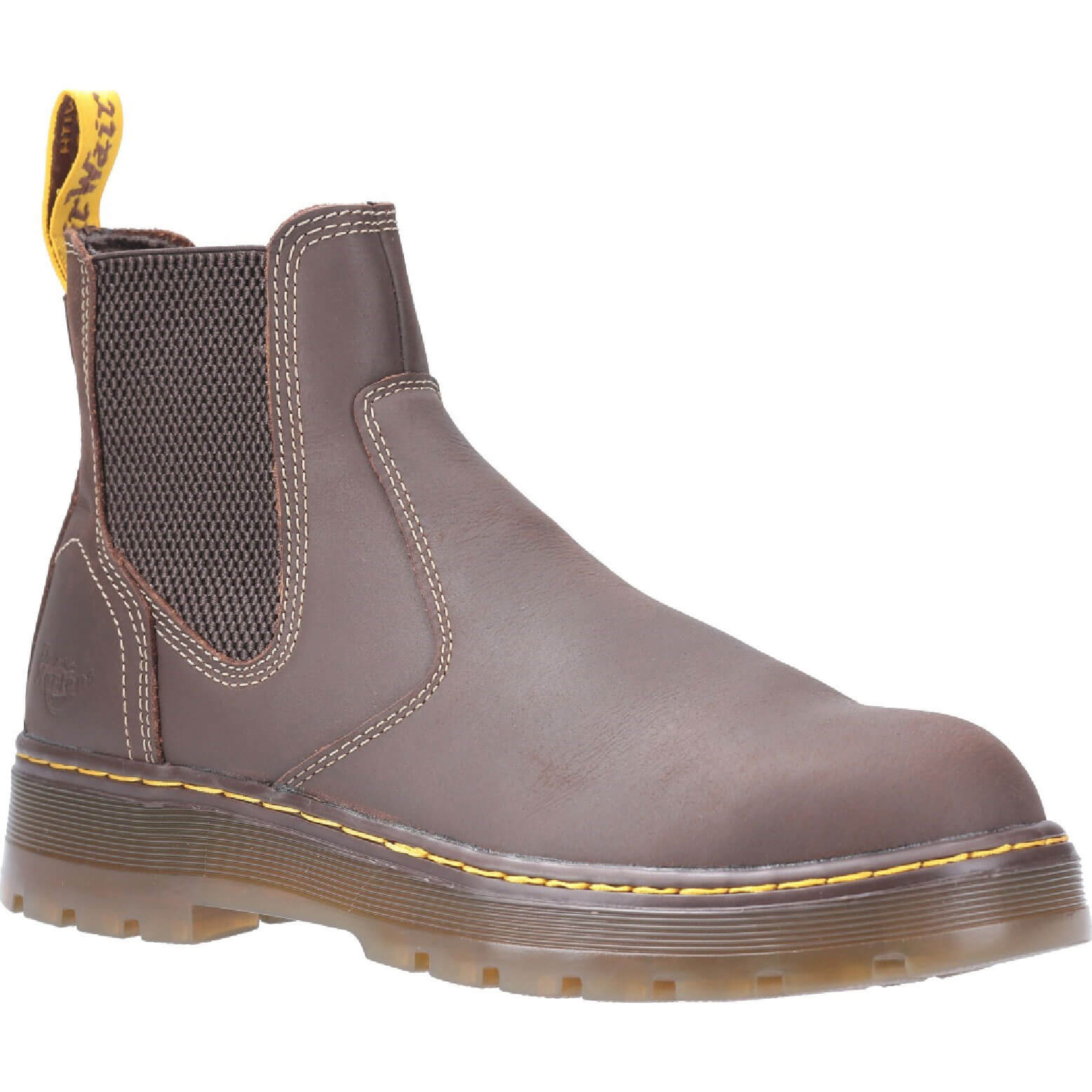 Image of Dr Martens Eaves Elasticated Safety Boot Brown Size 10