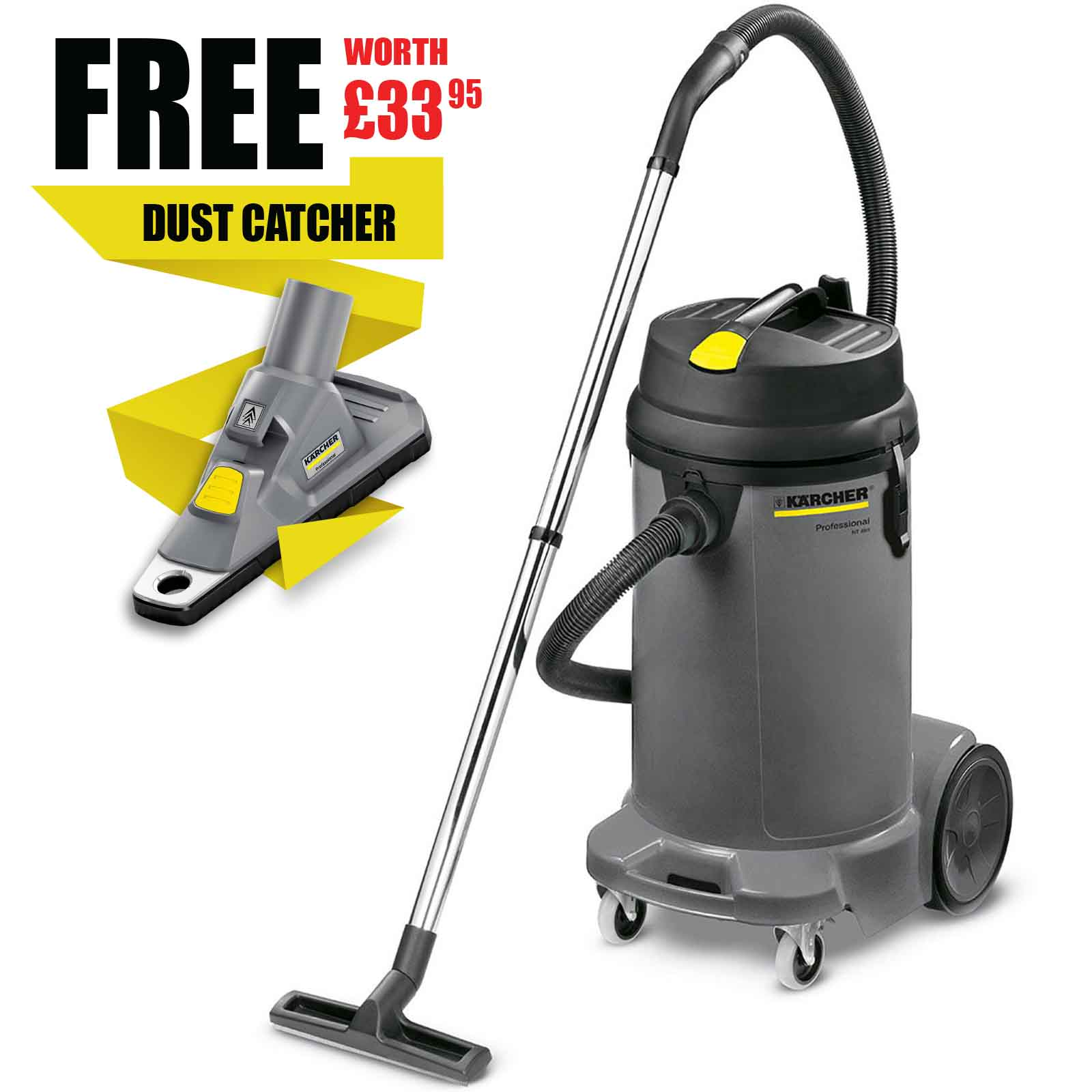 karcher bv 51 commercial backpack vacuum cleaner 5 litre tan