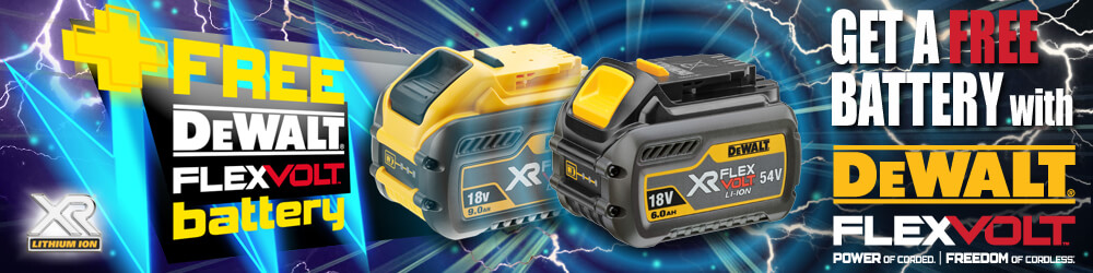DeWalt FREE Battery Promotion
