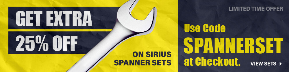 Get Extra 25% Off Sirius Spanner Sets