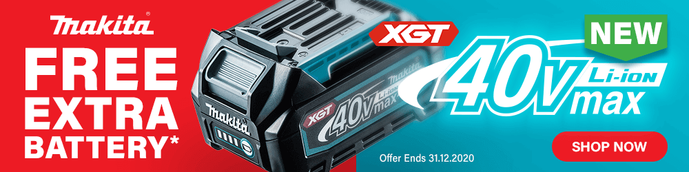 Makita XGT 40v Free Battery Offer