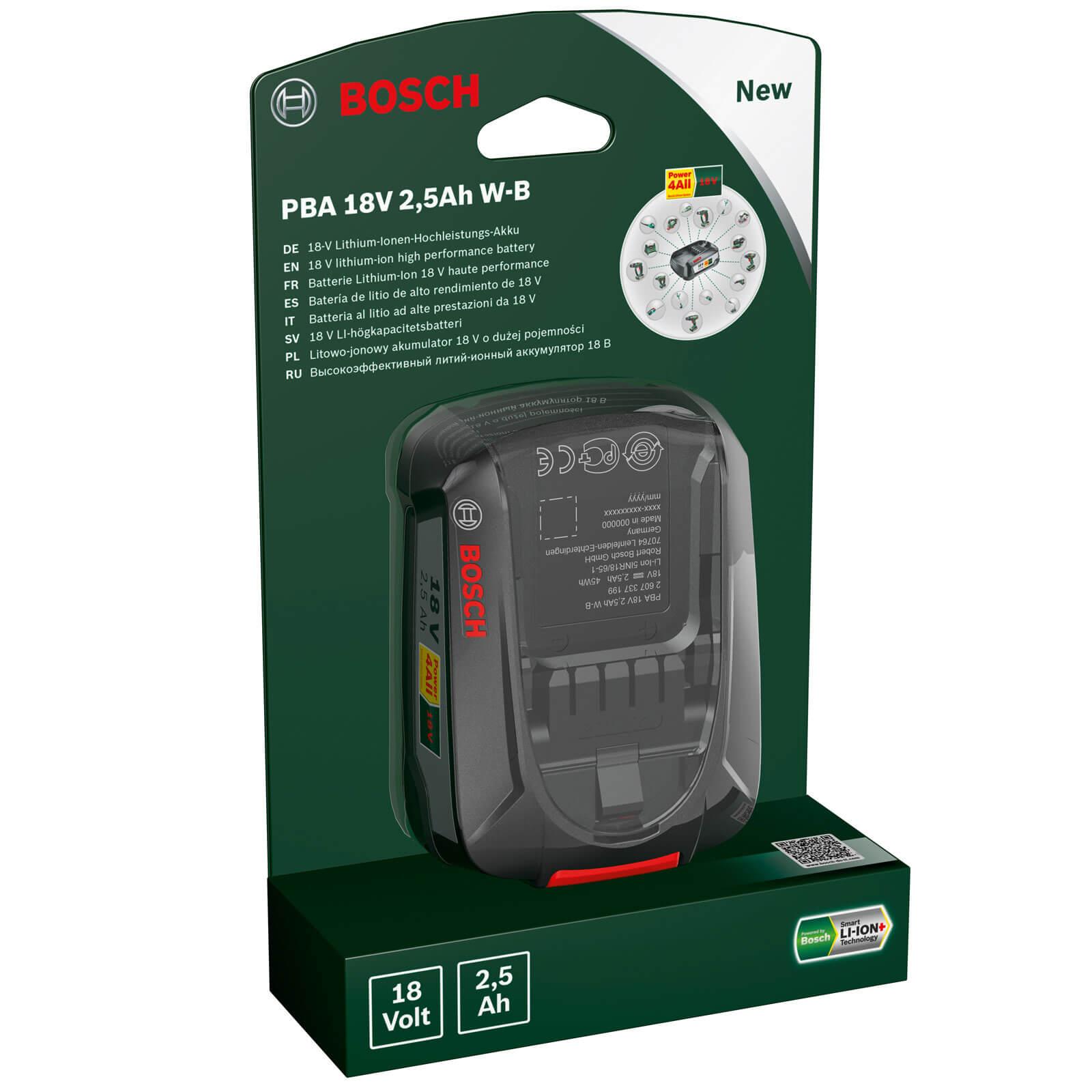 Bosch Genuine POWER4ALL PBA W B 18v Cordless Li ion Battery