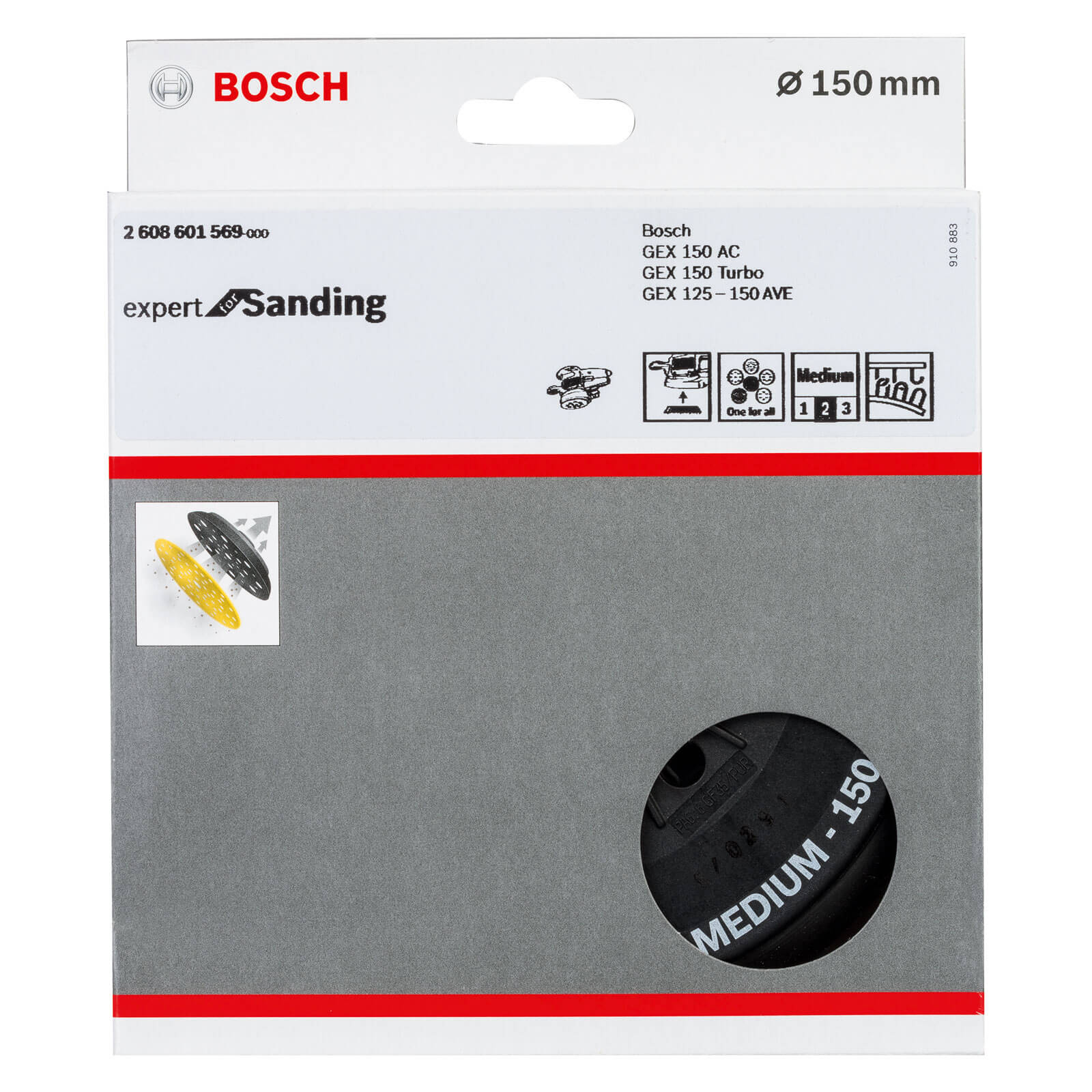 PAD BOSCH GEX 150 AC GEX 150 TURBO GEX 125-150 SANDER REPLACEMENT 150mm BASE