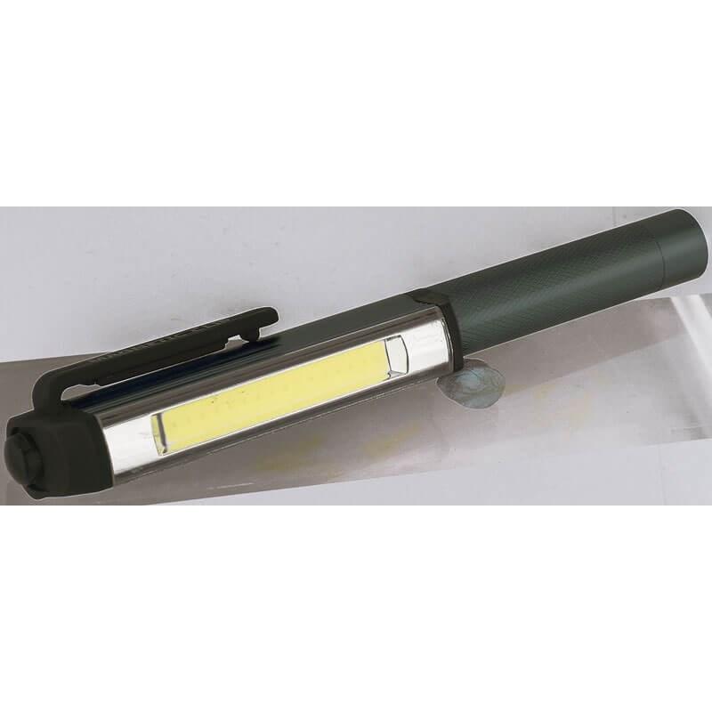 Draper 3W 300 Lumen COB LED Easy Use Aluminium Pocket Torch Batteries Included