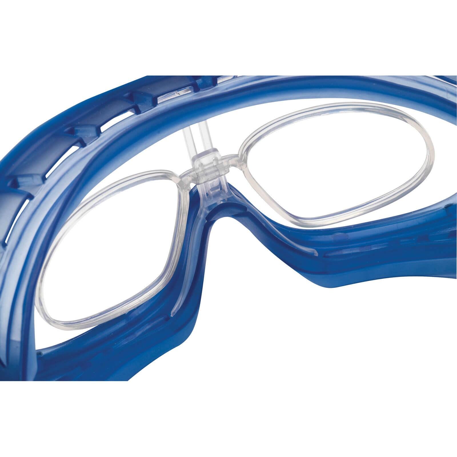 ce52d821ad29e2 Bolle Atom ATOEPSI Clear Blue Anti Scratch   Anti Fog Safety Goggles