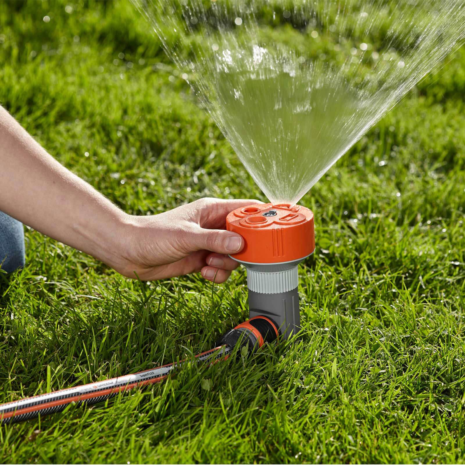 Gardena 4 pattern sprinkler twist with hose connector