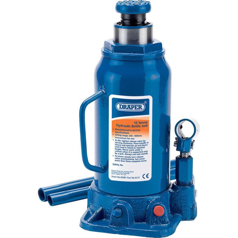 Draper Hydraulic Bottle Jack 15 Tonne