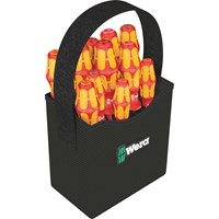 Wera 12 Piece Kraftform Plus VDE Insulated 2Go Screwdriver Set