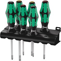 Wera 6 Piece Kraftform Plus 355/350/6 Screwdriver Set