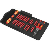 Wera 17 Piece Kraftform Kompakt VDE Extra Slim Screwdriver Set and Knipex Pliers