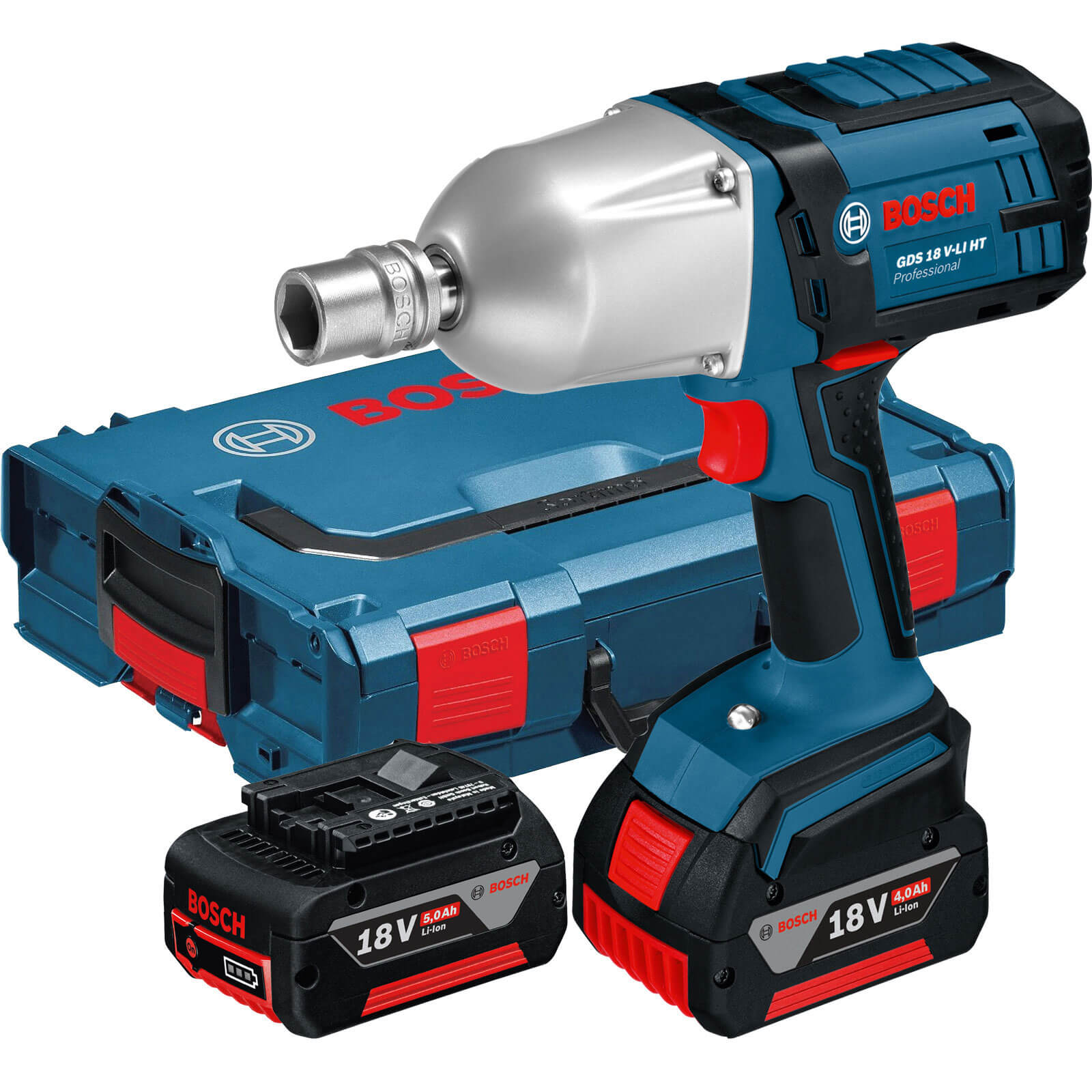 Bosch GDS 18 VLI HT 18v Cordless 12 Drive Impact Wrench 2 x 5ah Liion Charger Case