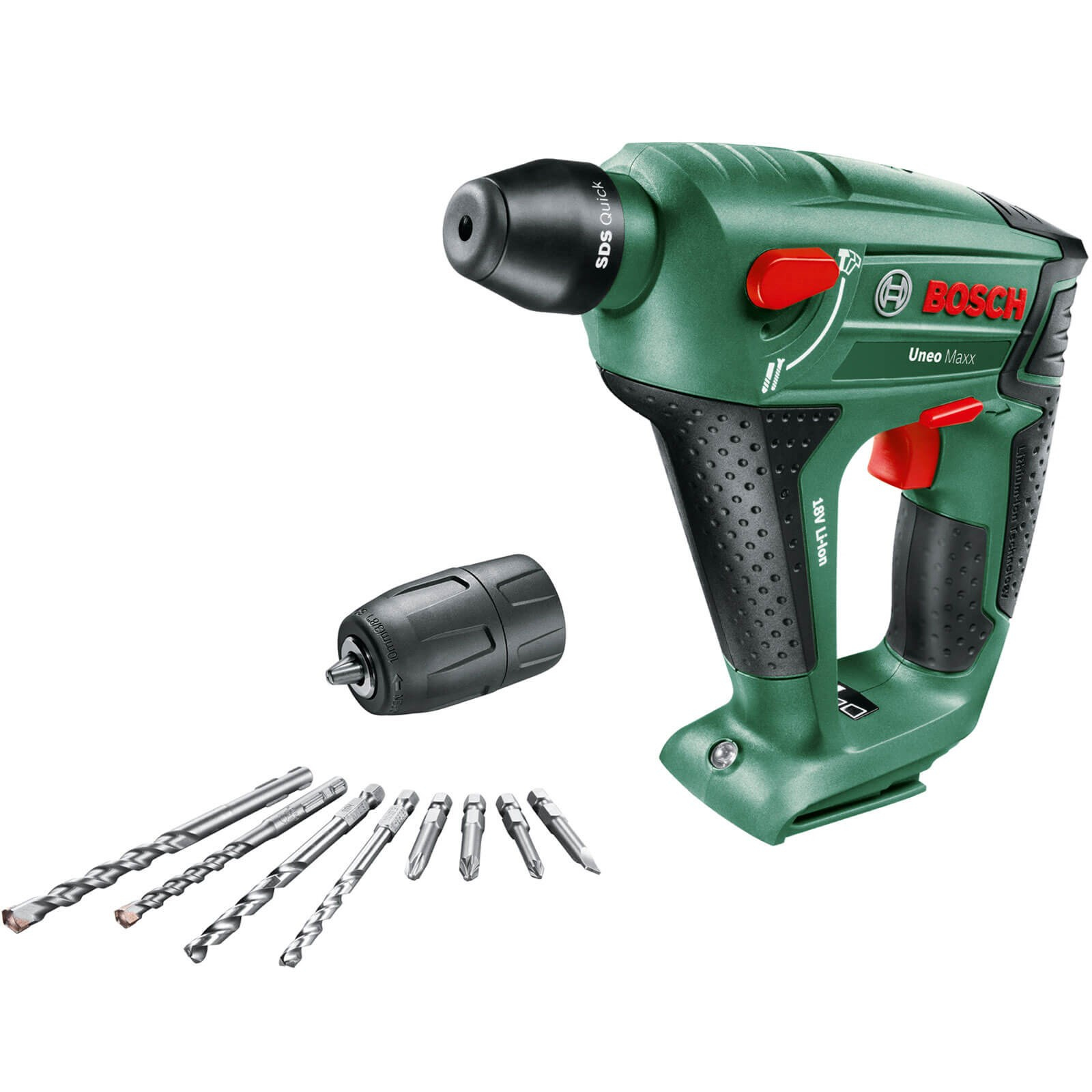bosch uneo maxx 18 li 18v cordless rotary hammer drill