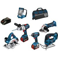 Bosch BAG+6RS 18v Cordless Robust Series 6 Piece Kit