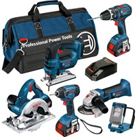 Bosch BAG+6DS 18v Cordless Dynamic Series 6 Piece Kit
