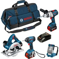 Bosch BAG+4RS 18v Cordless Robust Series 4 Piece Kit