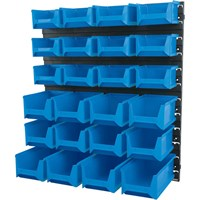 Draper Wall Storage Unit with 24 Bins Small / Medium / Large