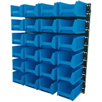 Draper 24 Bins Large Wall Storage Unit
