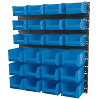 Draper Wall Storage Unit with 24 Bins Small / Medium